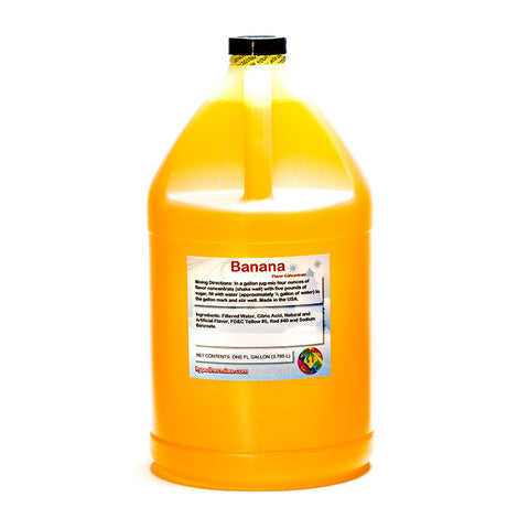 Banana Flavor Concentrate (Gallon, 128 Fl Oz) Yields 32 Gallons when Mixed with Sugar and Water