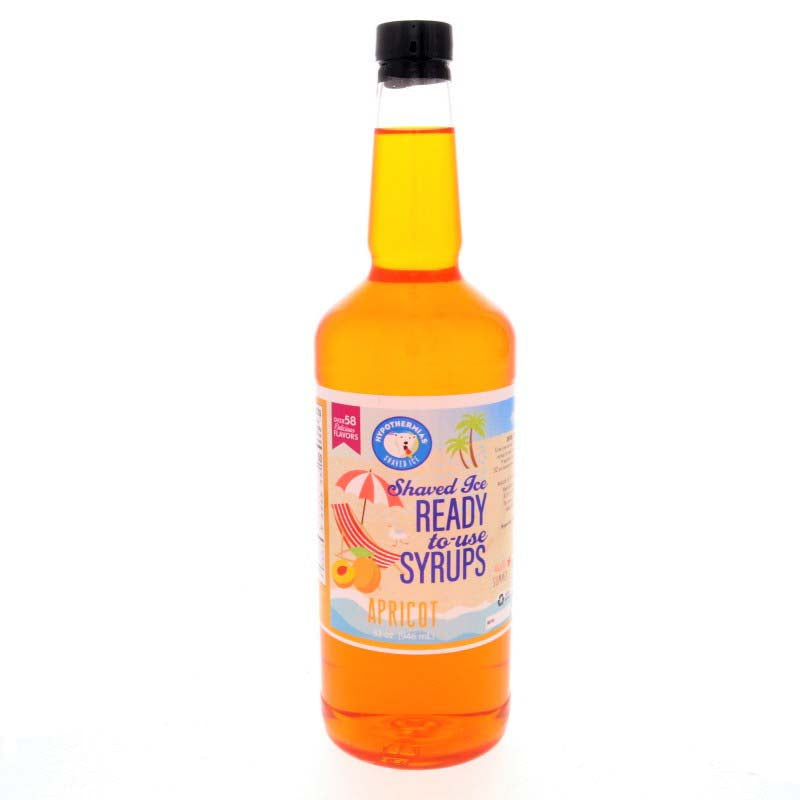 Shaved ice syrup apricot ready to use 32 Fl Oz