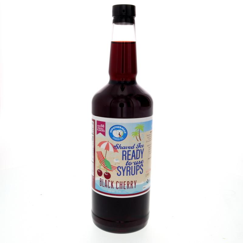 Syrup to make shaved ice black cherry quart 32 Fl Oz