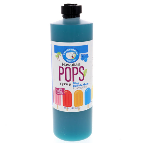 Blue Bubble Gum Hawaiian Pop Ready to Use Syrup