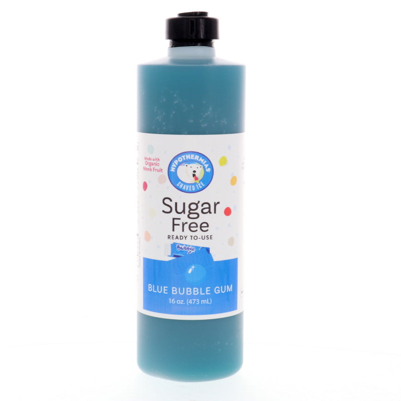 Blue Bubble Gum Sugar Free Ready to Use Syrup, Pint (16 Fl. Oz)