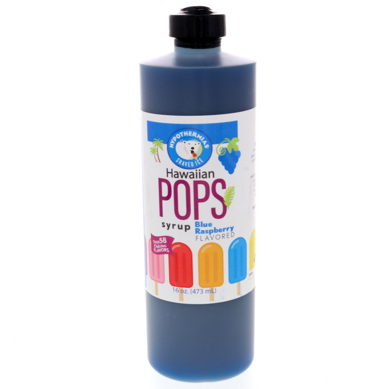 Blue Raspberry Hawaiian Pop Ready to Use Syrup