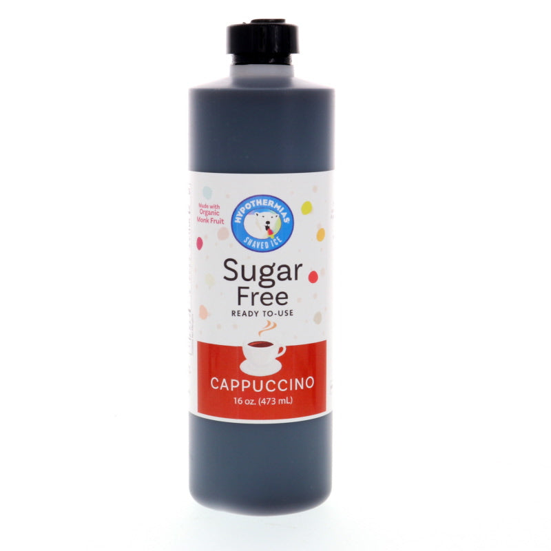 Cappuccino Sugar Free Ready to Use Syrup, Pint (16 Fl. Oz)