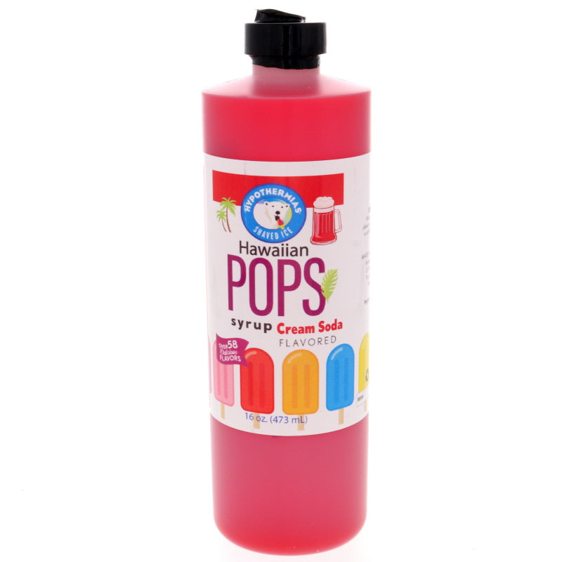 Cream Soda (Red) Hawaiian Pop Ready to Use Syrup
