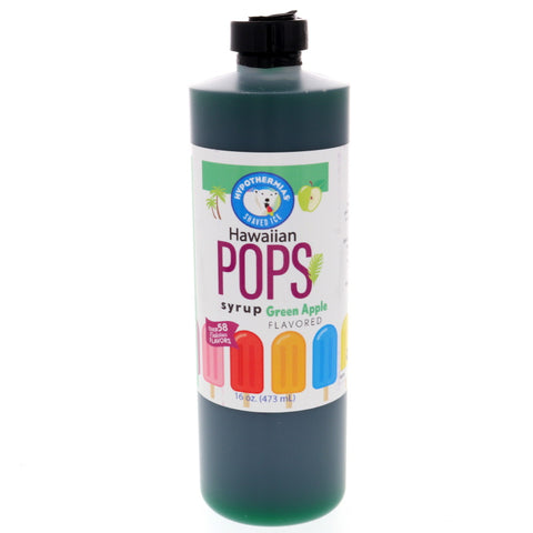 Green Apple Hawaiian Pop Ready to Use Syrup