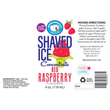 shaved ice syrup concentrate label red raspberry 4 Fl Oz