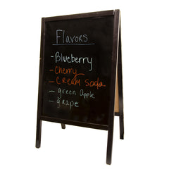 Sidewalk sign A-frame large dry erase black wood