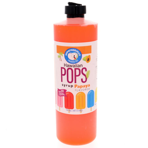 Papaya Hawaiian Pop Ready to Use Syrup
