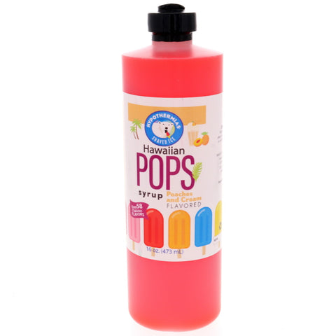 Peaches and Cream Hawaiian Pop Ready to Use Syrup