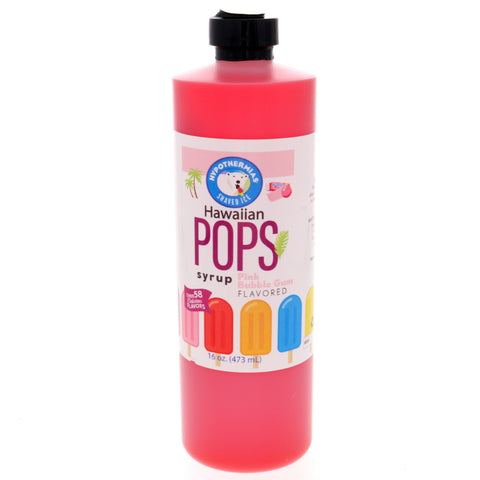 Pink Bubble Gum Hawaiian Pop Ready to Use Syrup