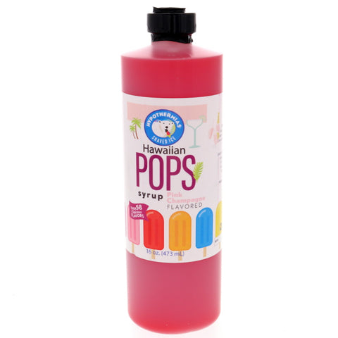 Pink Champange Hawaiian Pop Ready to Use Syrup