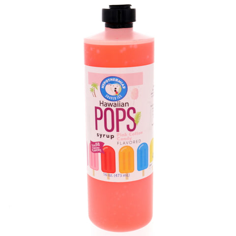 Pink Cotton Candy Hawaiian Pop Ready to Use Syrup