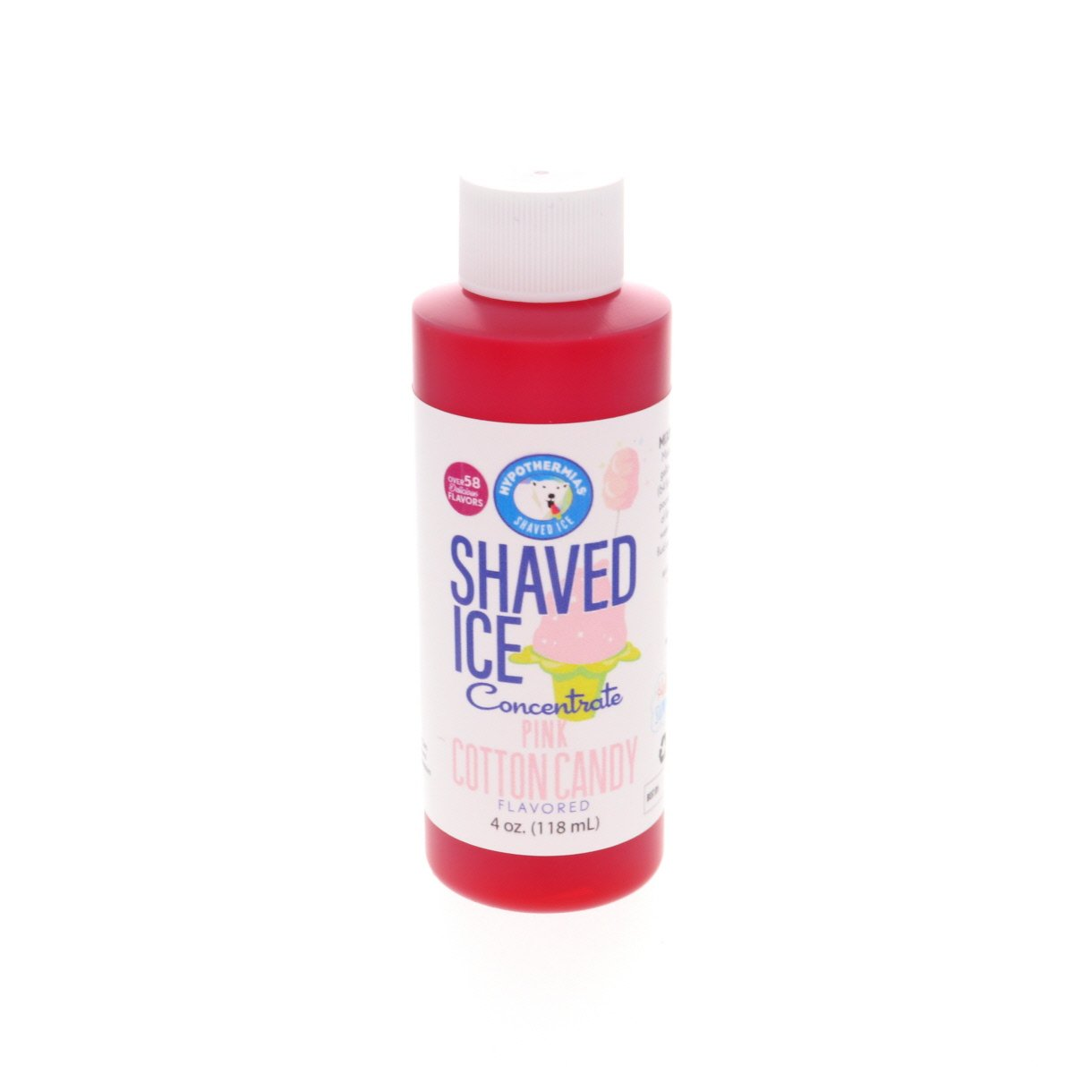 Pink cotton candy syrup flavor concentrate for shave ice 4 Fl Oz