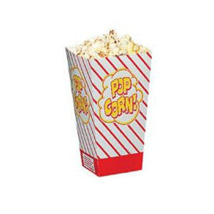 Popcorn Scoop Boxes .8 Ounce (Case of 50)