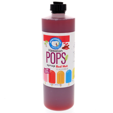 Red Hot Hawaiian Pop Ready to Use Syrup