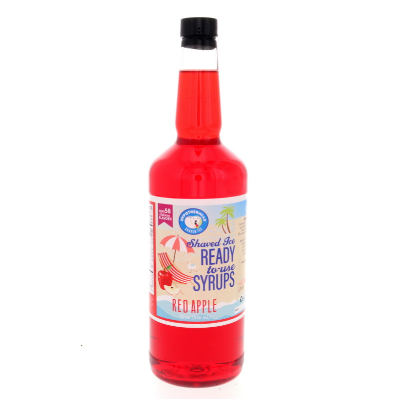 Red apple Hawaiian shaved ice syrup flavor