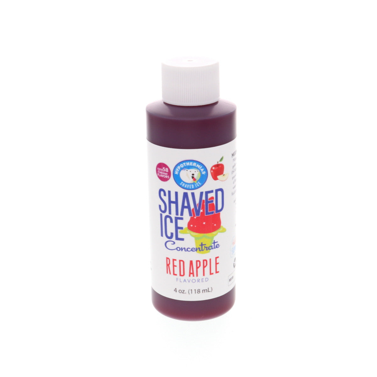 shaved ice concentrate syrup red apple 4 Fl Oz