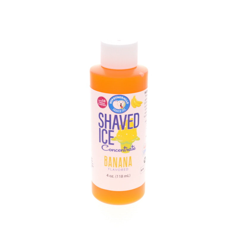 Banana Shave Ice Syrup Concentrate 4 Fl Oz