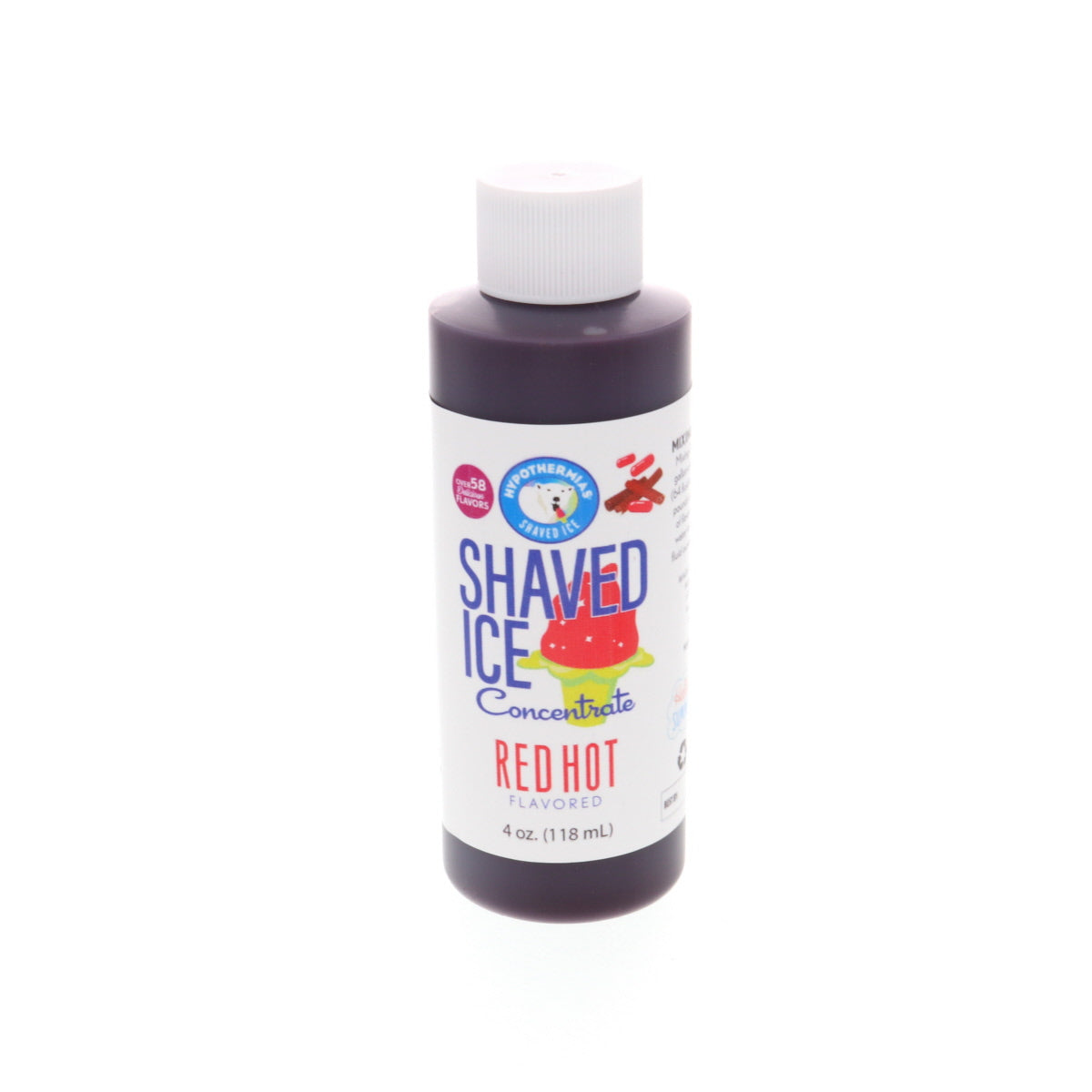 Red hot shave ice flavor concentrate 4 Fl Oz