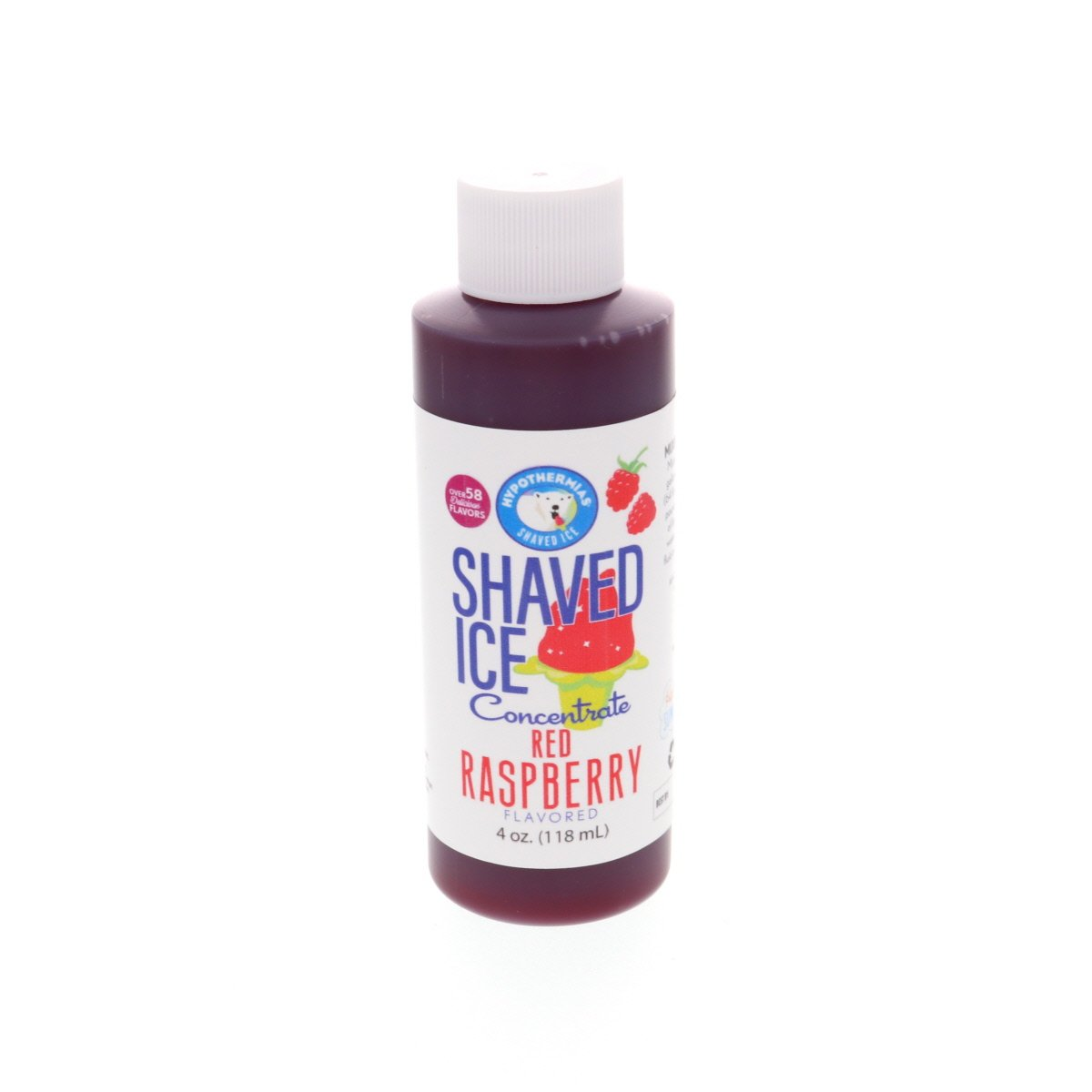 Shaved ice syrup concentrate red raspberry 4 Fl Oz