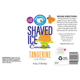 Tangerine snow cone syrup concentrate label ingredients