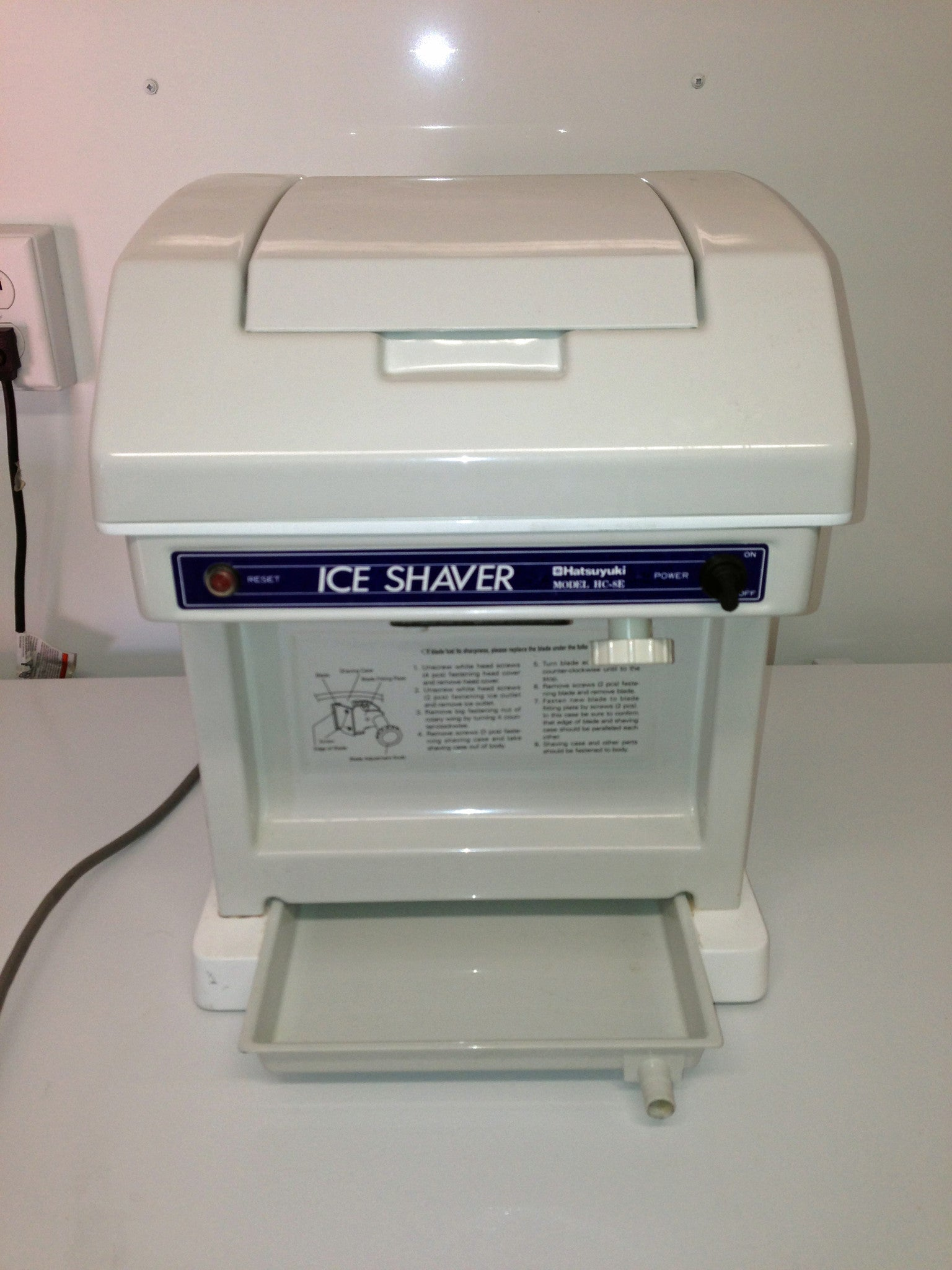 Used Hatsuyuki HC-8E (115 volt) Cube Shaved Ice Machine