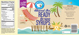 Ingredients of vanilla Hawaiian ice