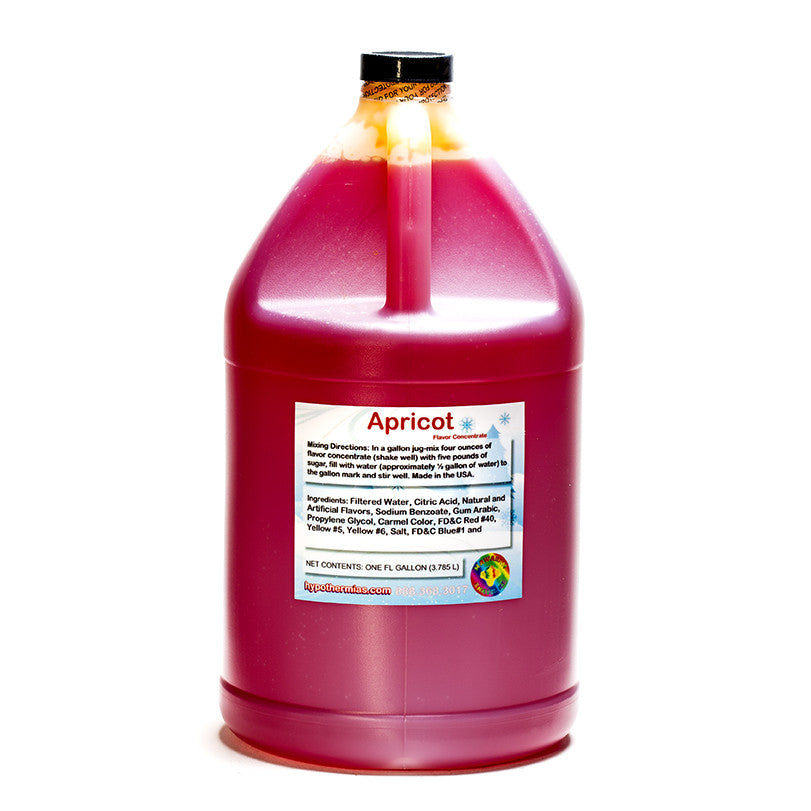 Apricot shave ice flavor concentrate gallon