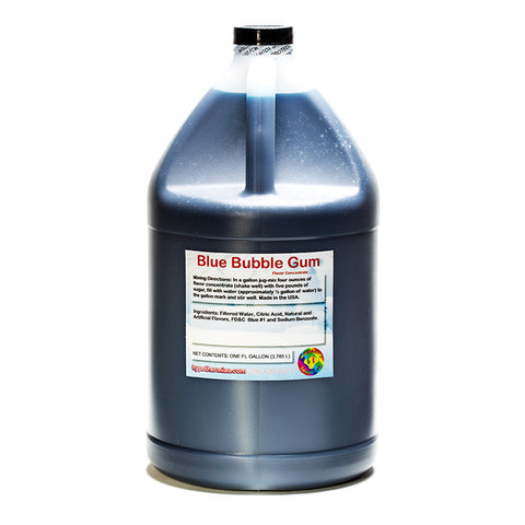 Blue Bubble Gum Flavor Concentrate (Gallon, 128 Fl Oz) Yields 32 Gallons when Mixed with Sugar and Water