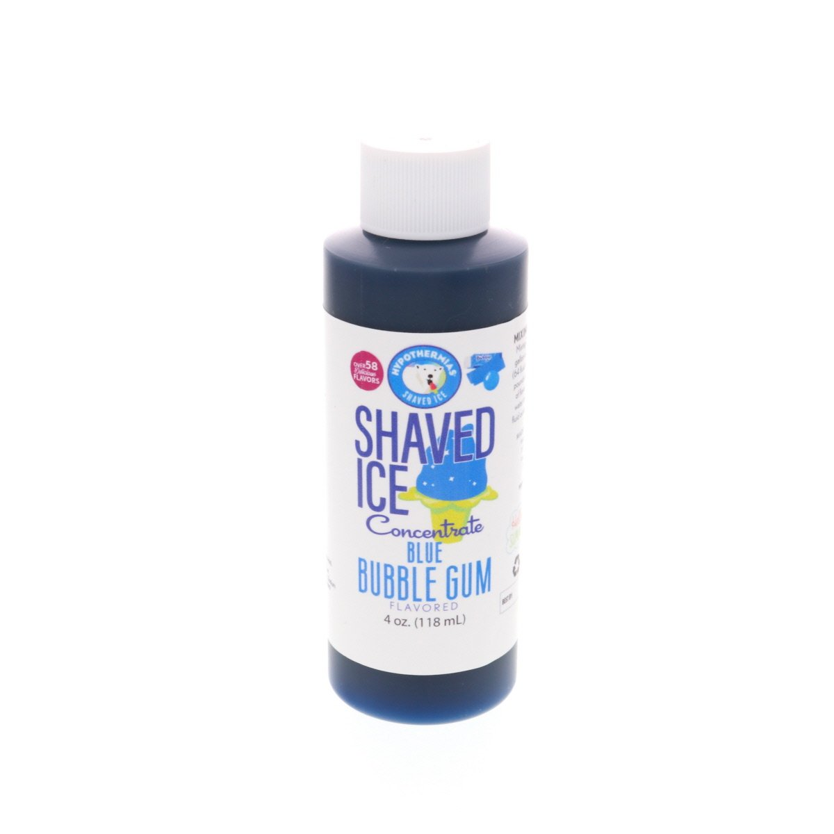 Flavor concentrate shaved ice blue bubble gum 4 Fl Oz