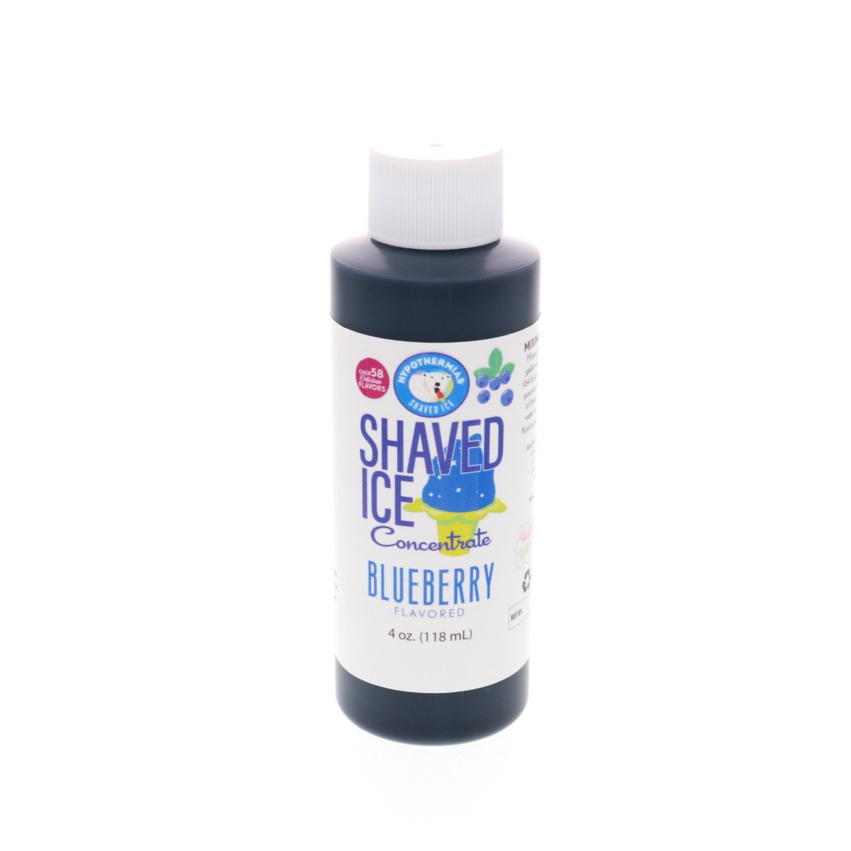 Blueberry Hawaiian Shave Ice syrup flavor concentrate 4 Fl Oz