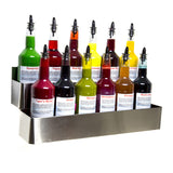 Bottle rack speed rail stainless steel double hold