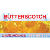 Shaved ice flavor bottle label butterscotch