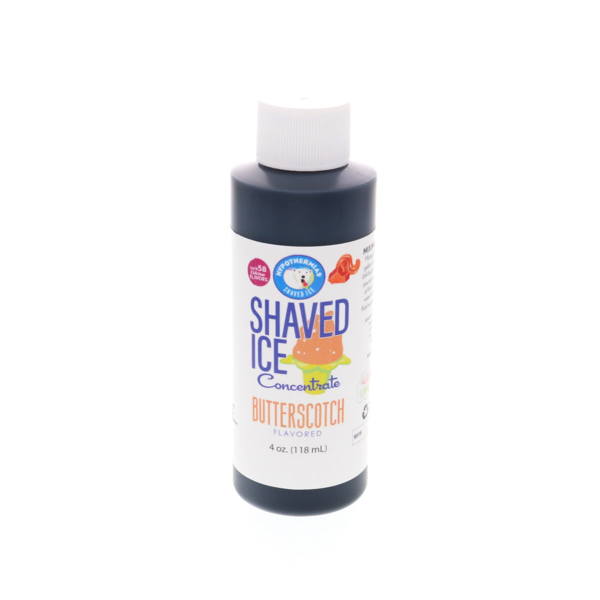 Syrup concentrate for hawaiian shave ice butterscotch 4 Fl Oz