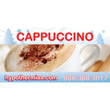 Shaved ice flavor bottle label cappuccino