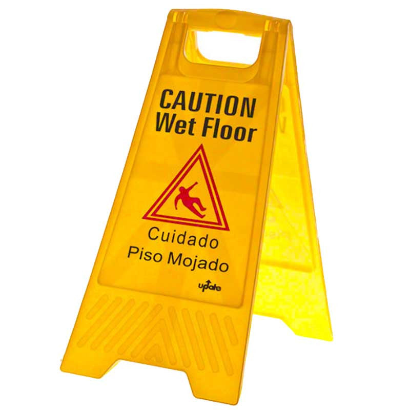 Cauton wet floor sign open classic style a frame bright yellow