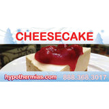 Shaved ice flavor bottle label cheesecake