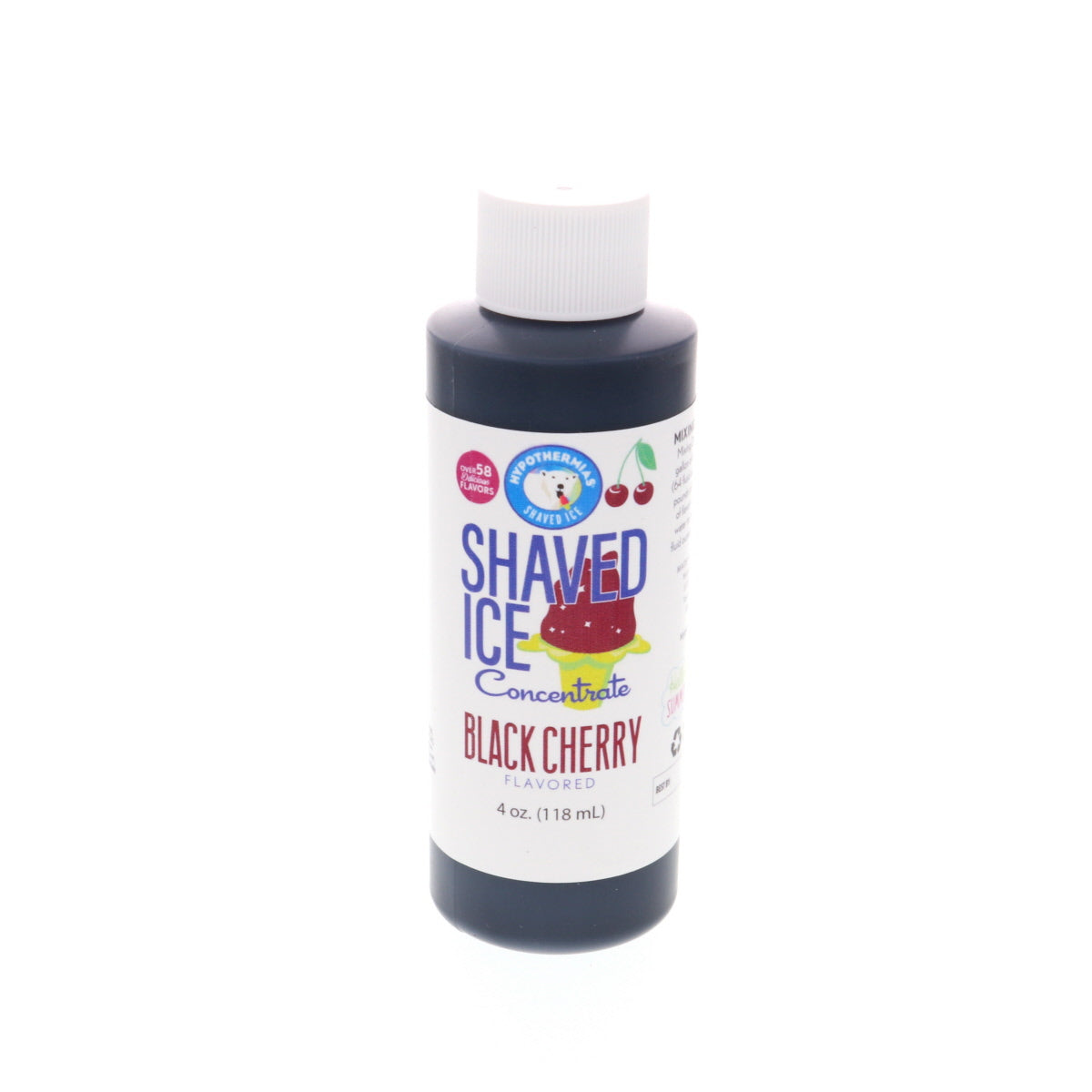 Shaved ice flavor syrup concentrate black cherry 4 Fl oz