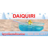 Label for shave ice bottles daiquiri