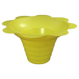 Shaved ice flower cup small 4 ounce yellow