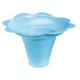 Medium flower cup for shaved ice 8 ounce blue