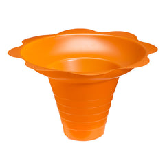 Medium flower cup for shaved ice 8 ounce orange