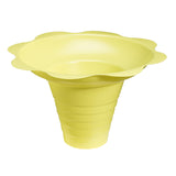 Medium flower cup for shaved ice 8 ounce yellow