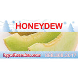 Label for shaved ice bottle honeydew
