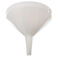 Large plastic funnel for shaved ice syrups