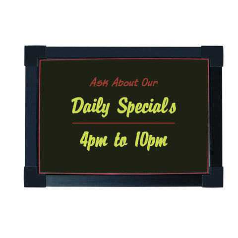 "LED Write-On Sign Board 16"" X 12"""