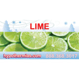 Label for shave ice bottle lime