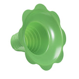 Flower cup for shaved ice 8 ounce medium green