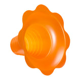 Flower cup for shaved ice 8 ounce medium orange