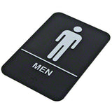 Men's restroom sign with braille Update International